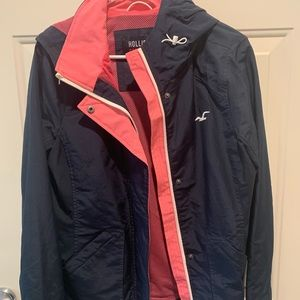 Hollister all-weather jacket L navy blue